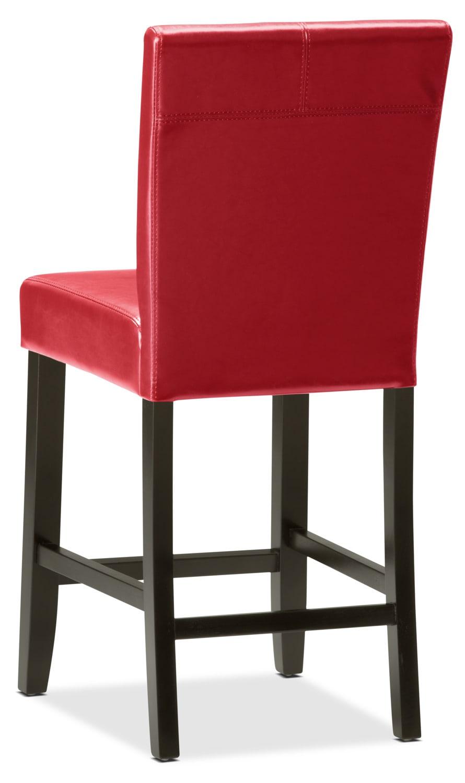 Chaise de salle manger de hauteur comptoir rouge brick - Chaise salle a manger rouge ...