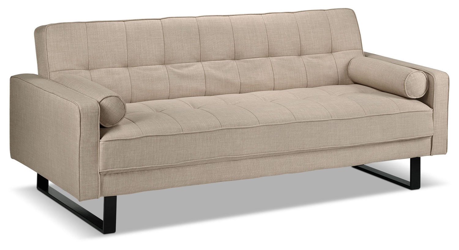 Living Room Furniture - Medina Convertible Sofa - Beige
