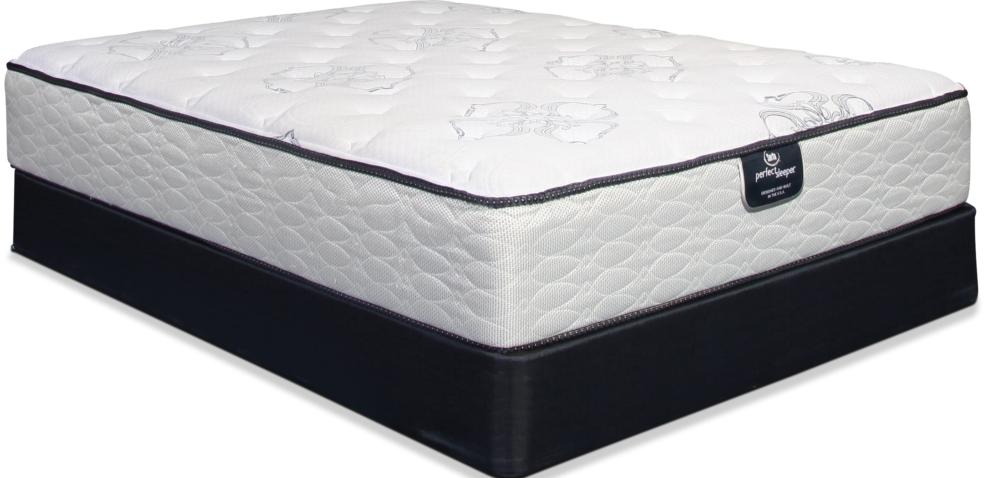 Serta Perfect Sleeper Cushion Firm Queen Mattress and Split Boxsprings