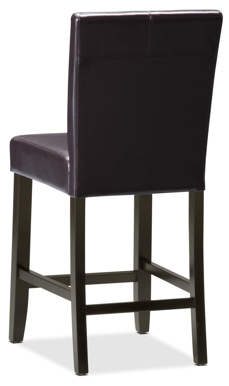 Chaise de salle manger de hauteur comptoir brune brick for Hauteur d une chaise de salle a manger