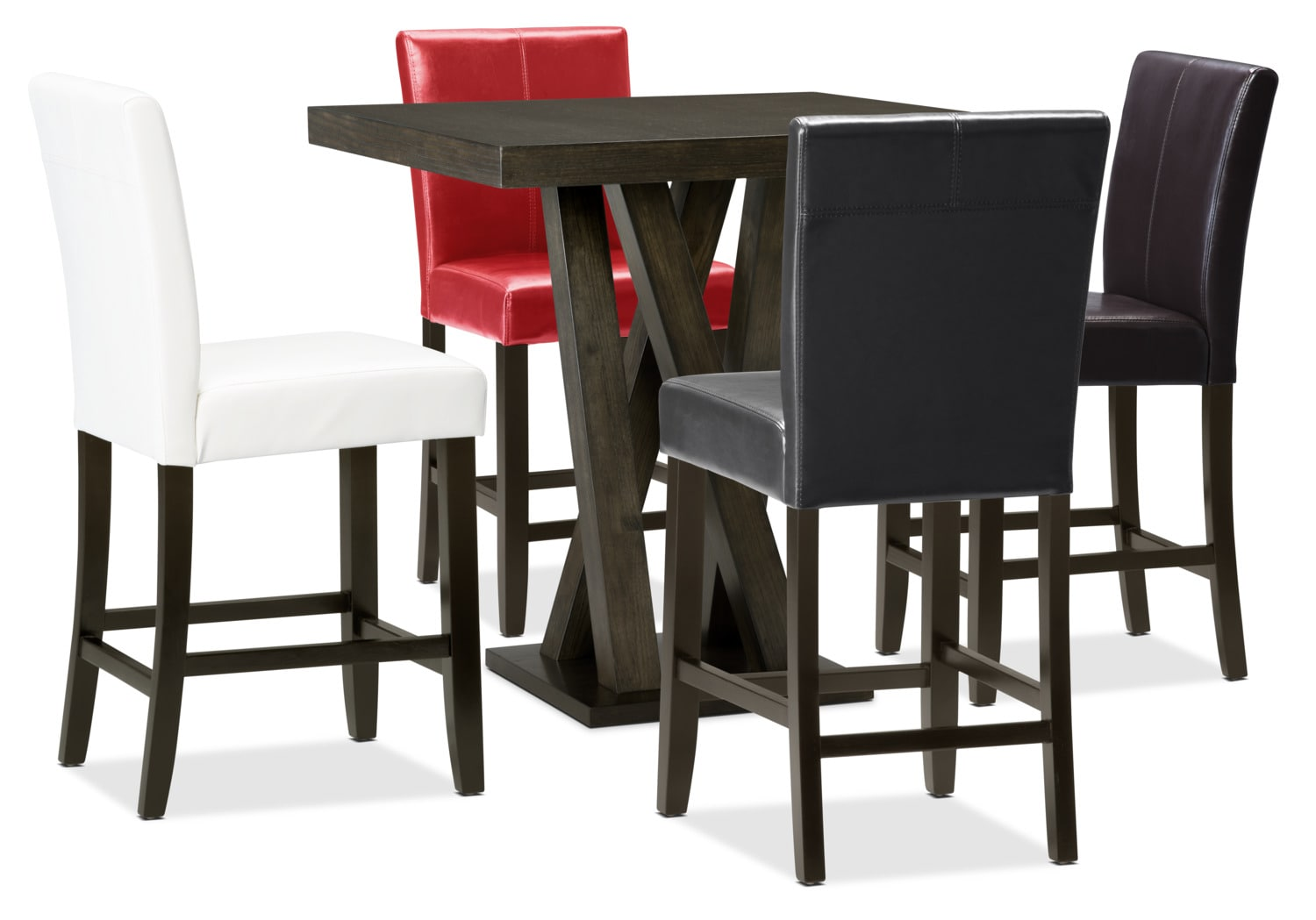 Soho 5-Piece Counter-Height Dining Package – Assorted Colours