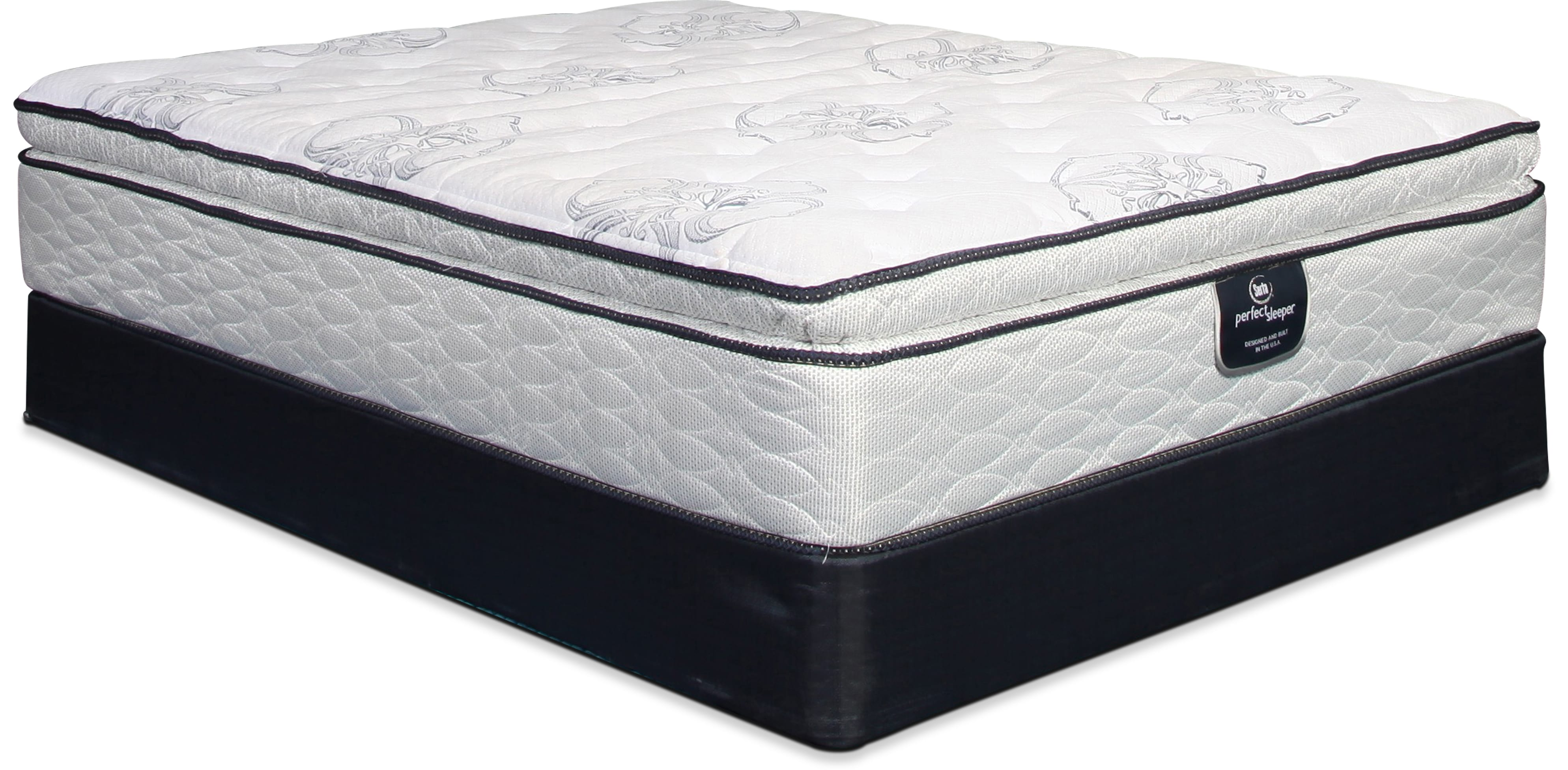 Serta Perfect Sleeper Super Pillowtop Queen Mattress and Split Boxsprings