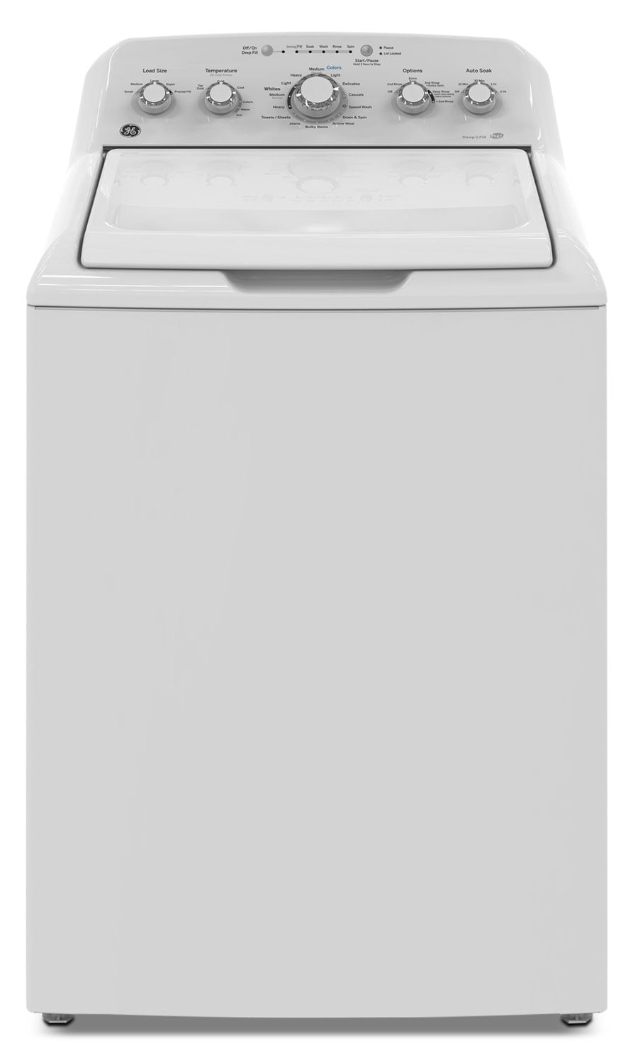 GE 4.9 Cu. Ft. Top-Load Washer – GTW460BMKWW