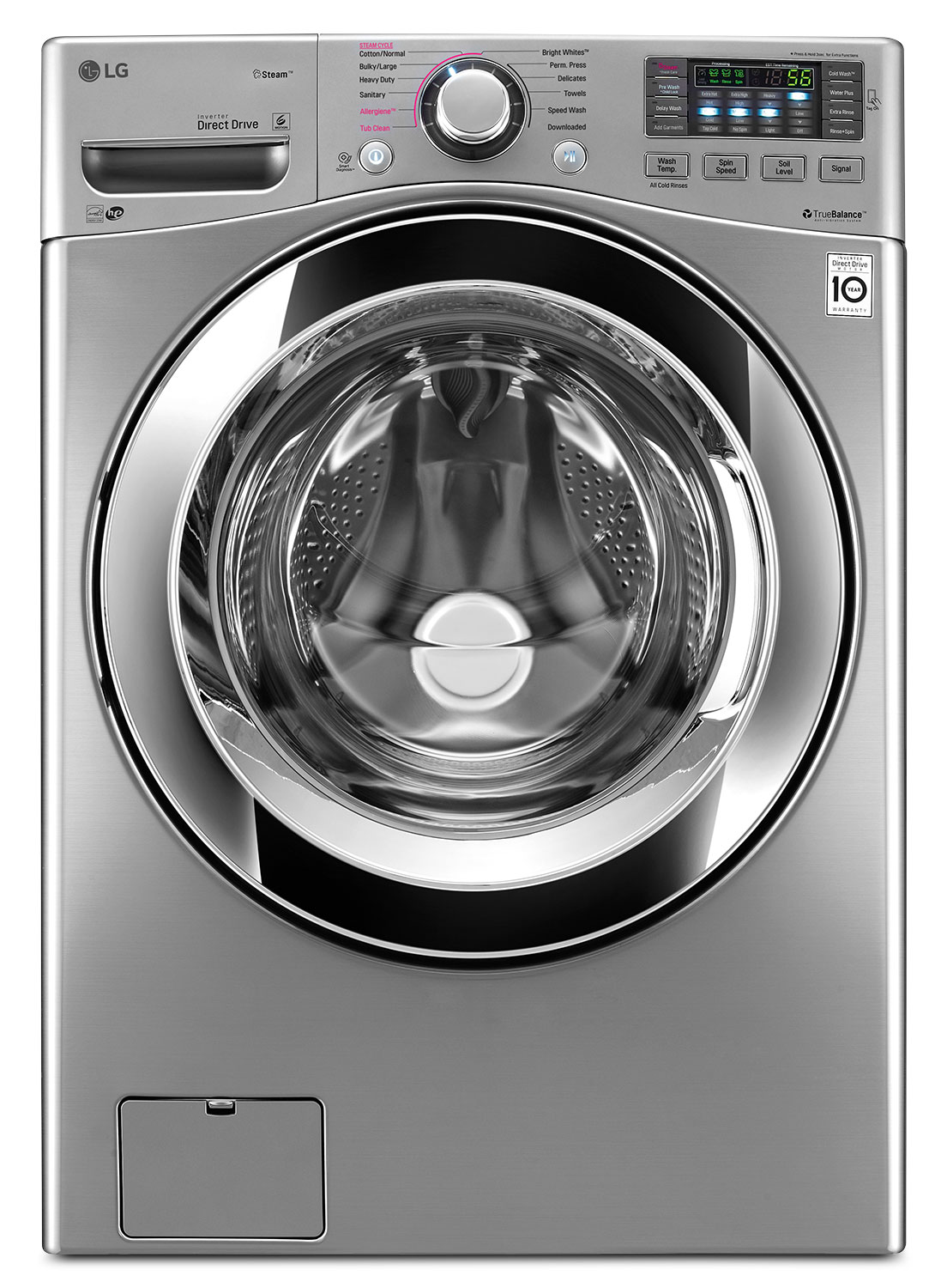Washers and Dryers - LG 5.2 Cu. Ft. Front-Load Washer – WM3670HVA