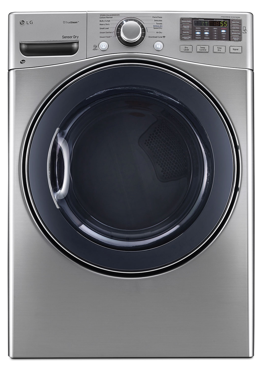 LG 7.4 Cu. Ft. Ultra-Large Capacity High-Efficiency Electric SteamDryer™ – Graphite Steel