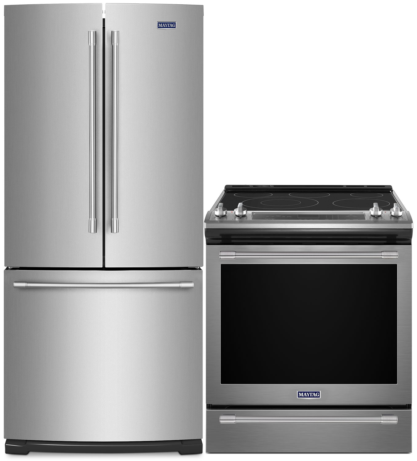 Maytag 20 Cu. Ft. French-Door Refrigerator 6.4 Cu. Ft. Electric Range