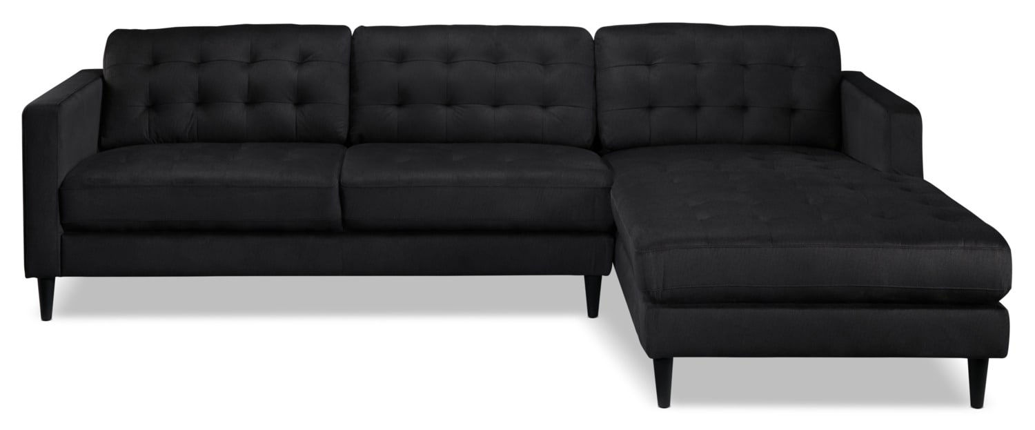 Paragon 2piece Sectional With Rightfacing Chaise  Charcoal