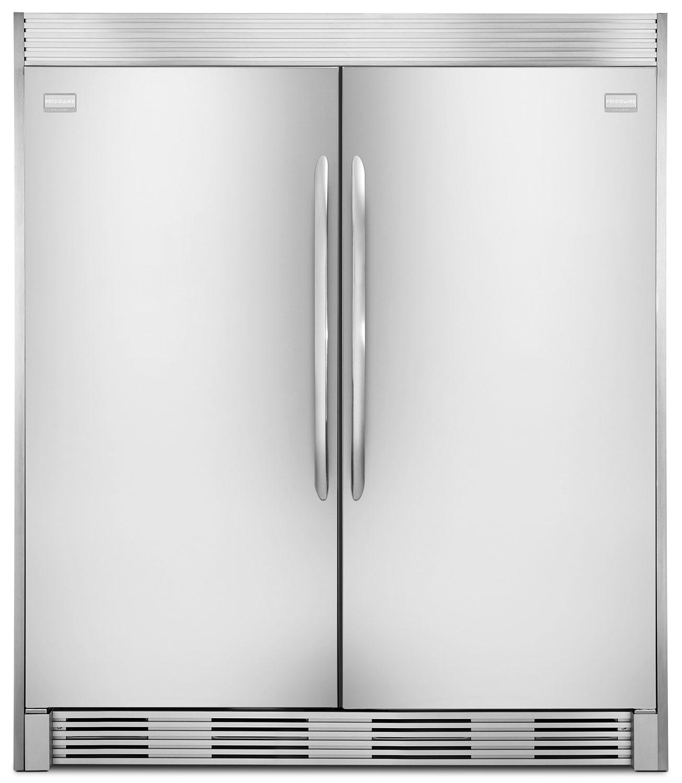 Refrigerators and Freezers - Frigidaire Gallery 18.6 Cu. Ft. Refrigerator, 18.6 Cu. Ft. Freezer and Trim Kit Package