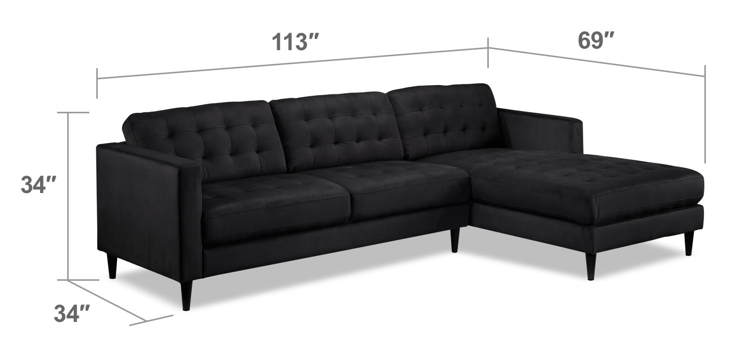 Paragon 2 piece sectional with right facing chaise for 2 piece sectionals with chaise