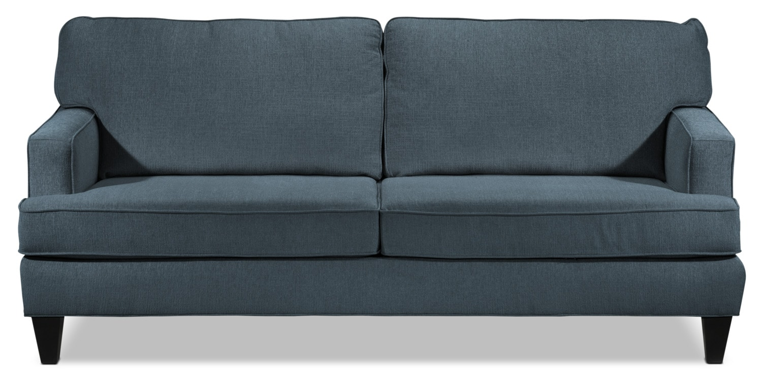 Capella sofa denim leon 39 s Denim couch and loveseat