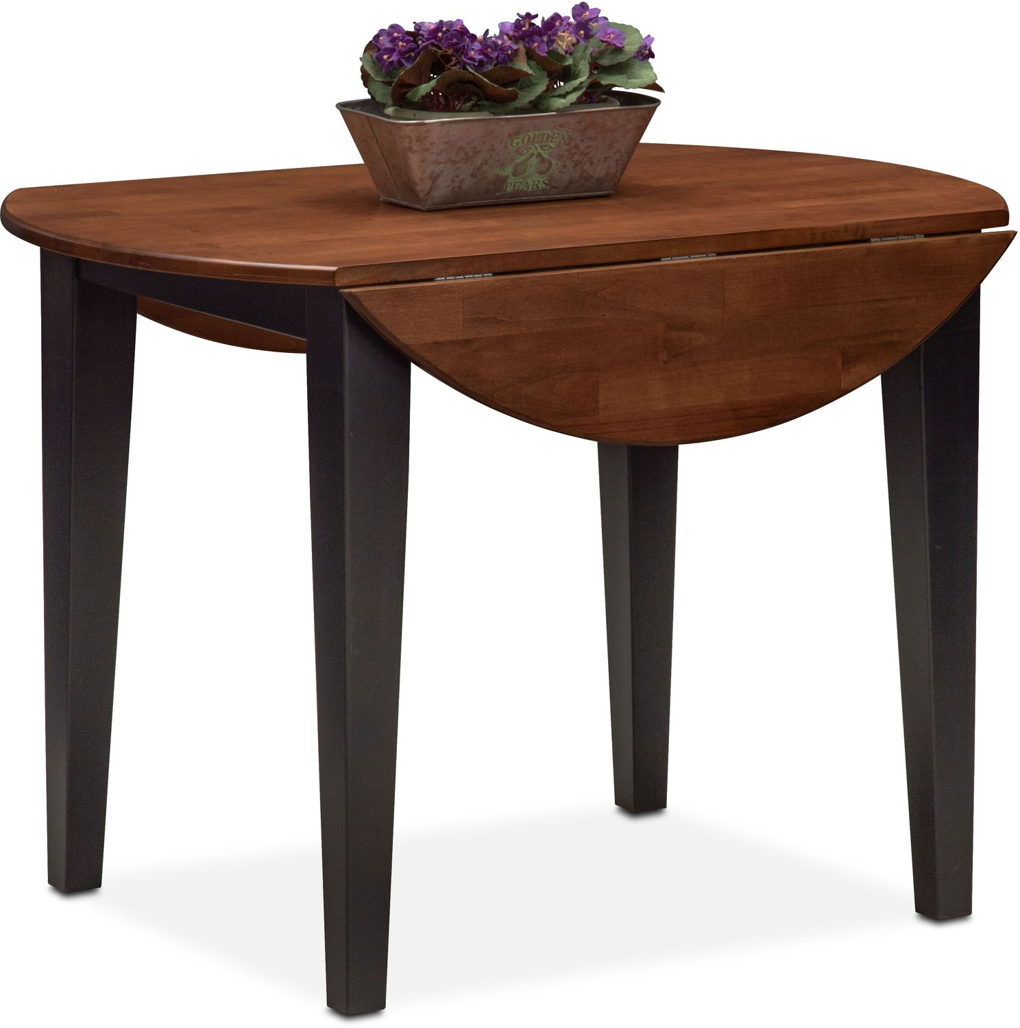 Nantucket Drop Leaf Table Black And Cherry American Signature Furniture
