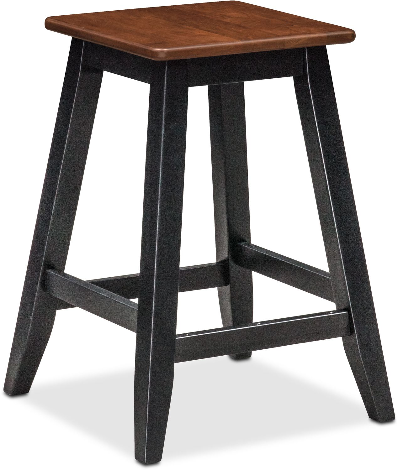 Nantucket Breakfast Bar And 2 Counter Height Stools Black And Cherry Value City Furniture