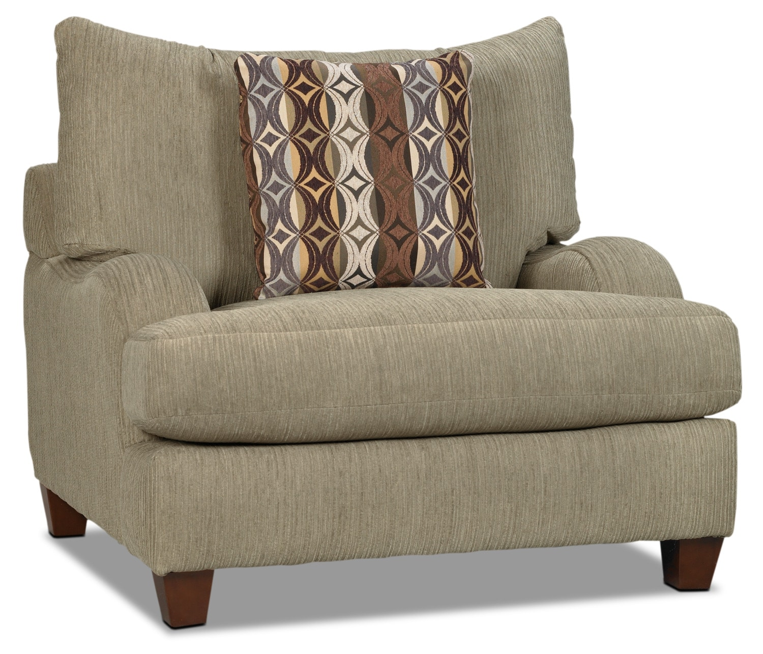 Living Room Furniture - Putty Chenille Chair - Beige