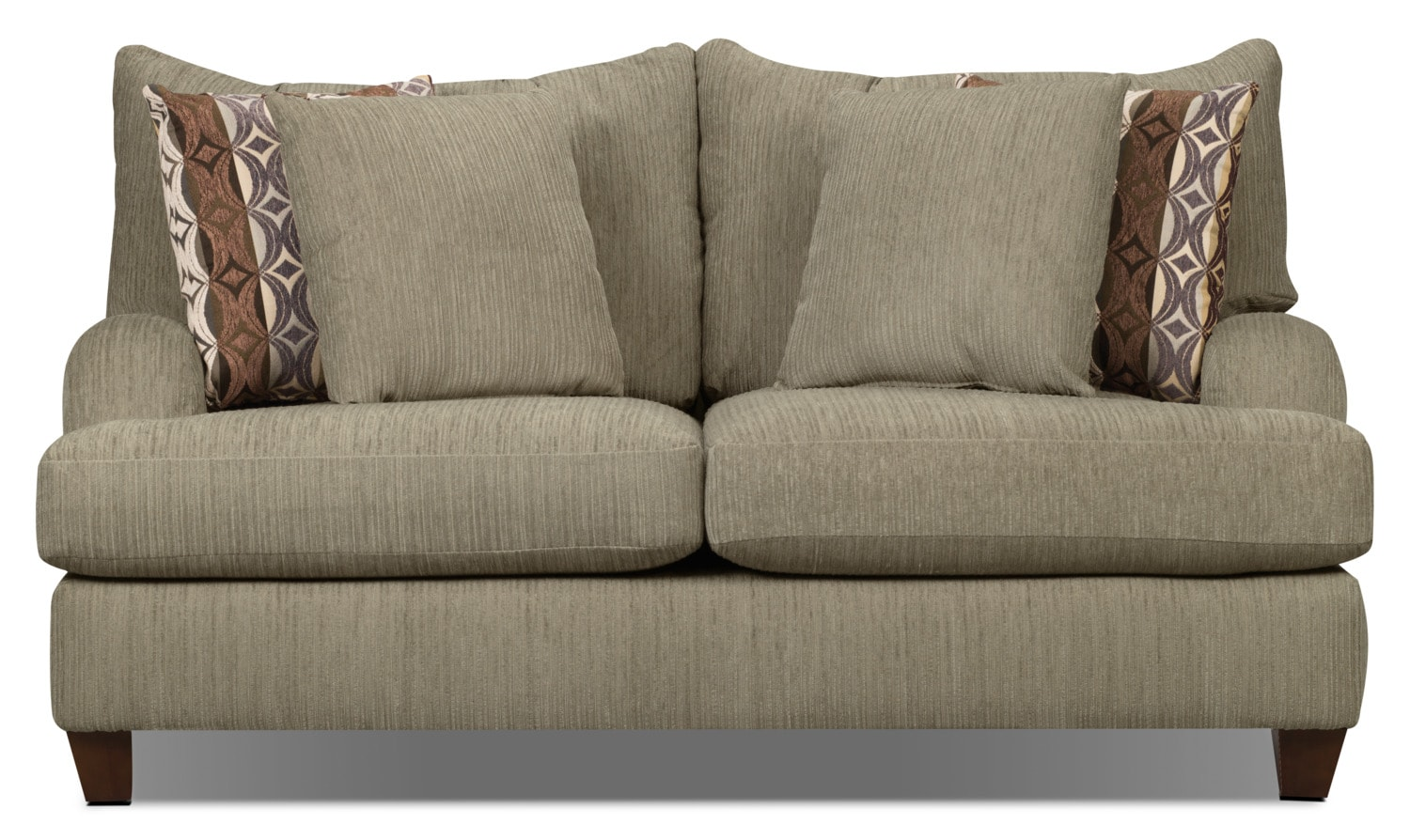 Putty Chenille Loveseat - Beige
