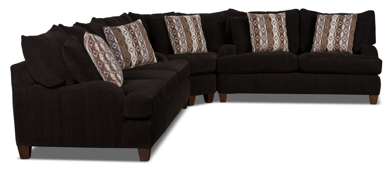 Sofa sectionnel putty en chenille chocolat brick for Sofa en liquidation