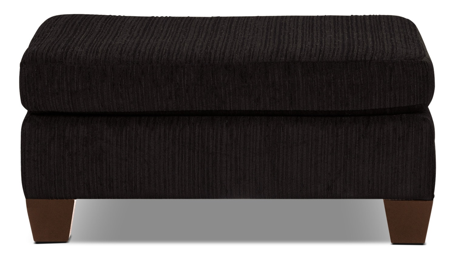 Putty Chenille Ottoman - Chocolate