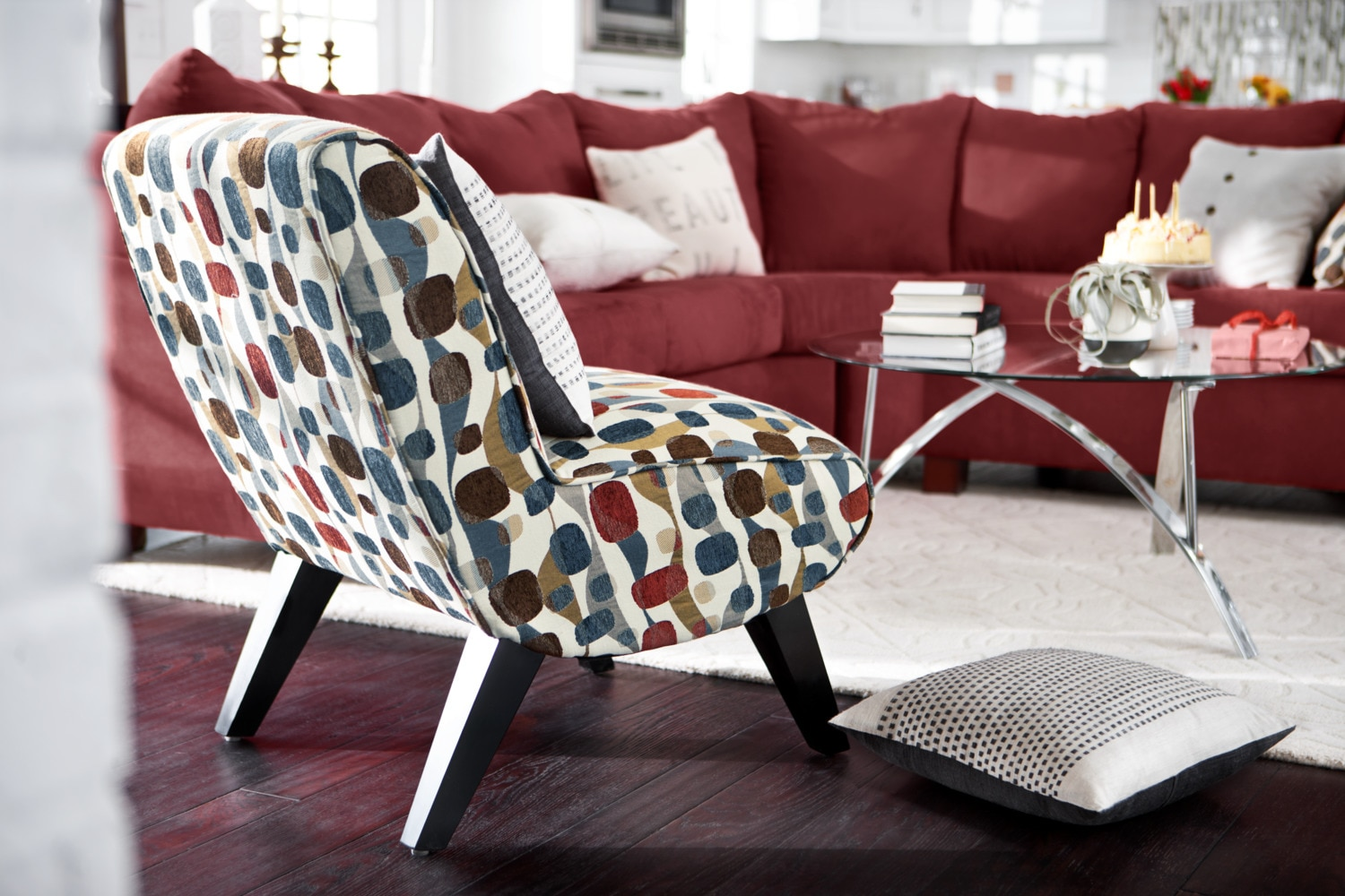 adrian accent chair geometric american signature furniture