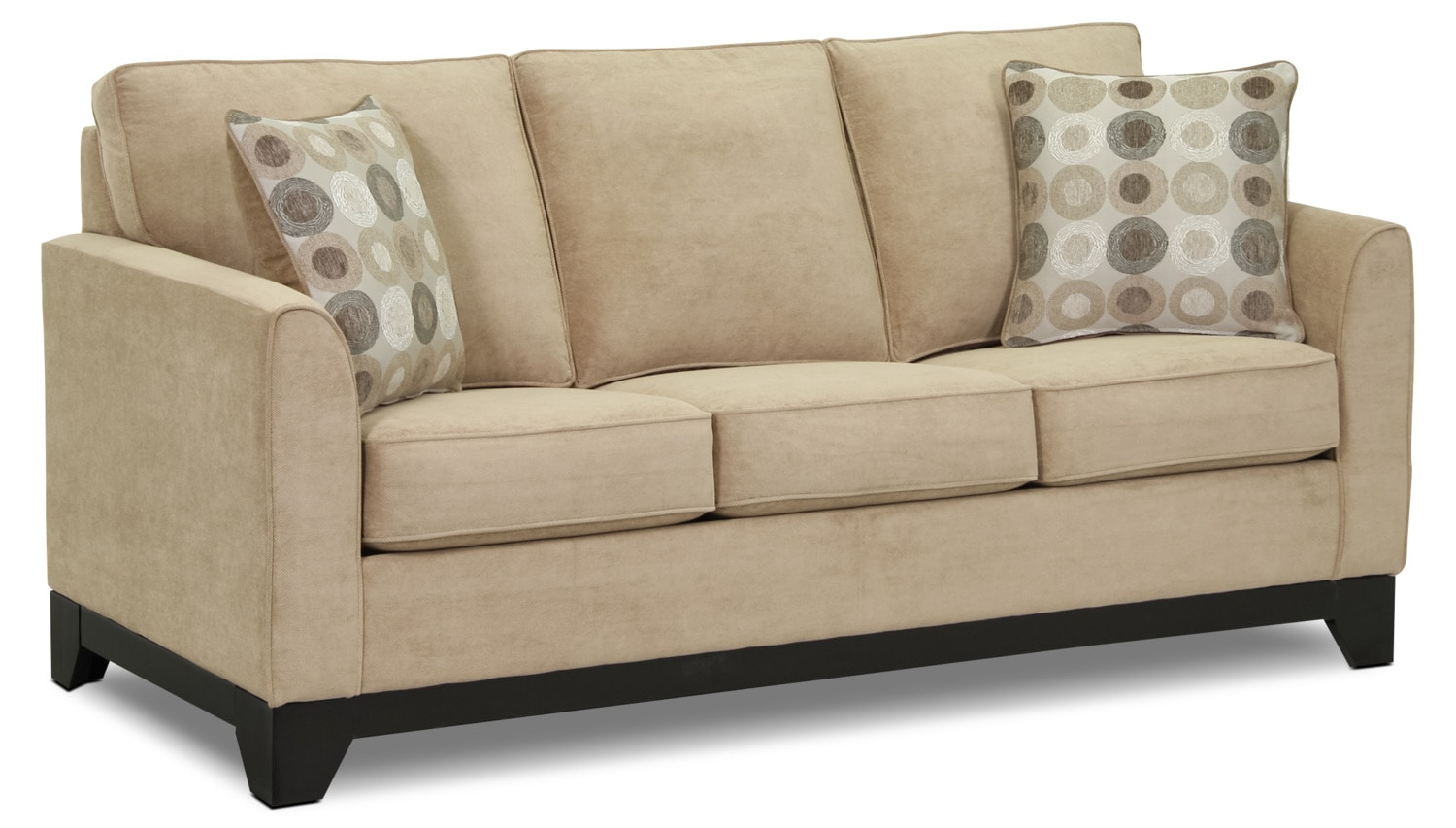 Griffin full sofabed beige leon 39 s for Sofa bed leons