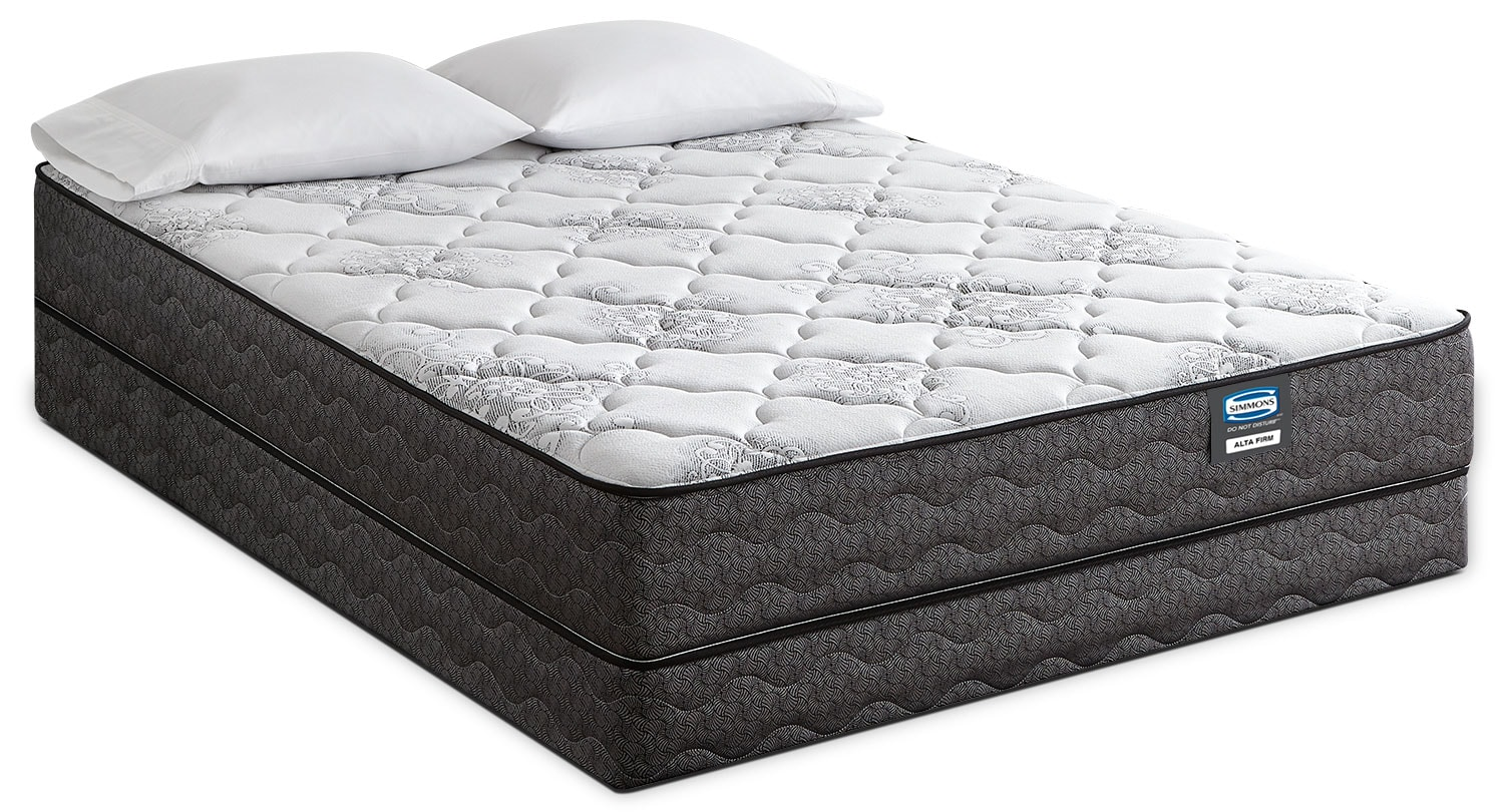 Simmons Do Not Disturb Alta Tight-Top Firm Full Mattress Set