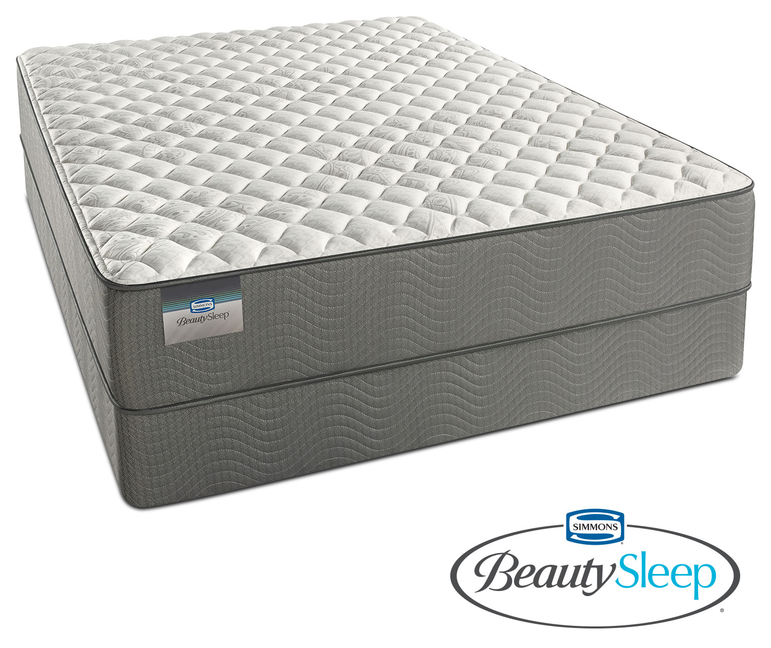 alpine white firm twin mattress and foundation set value city furniture. Black Bedroom Furniture Sets. Home Design Ideas