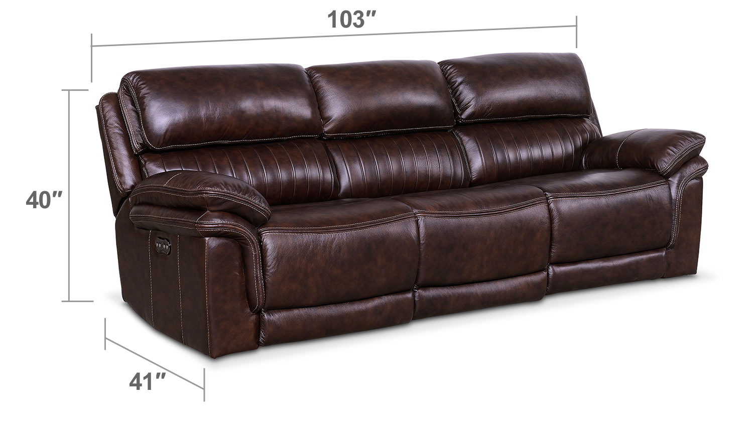 Monterey 3 piece power reclining sofa chocolate value for 3 piece sectional sofa with recliner