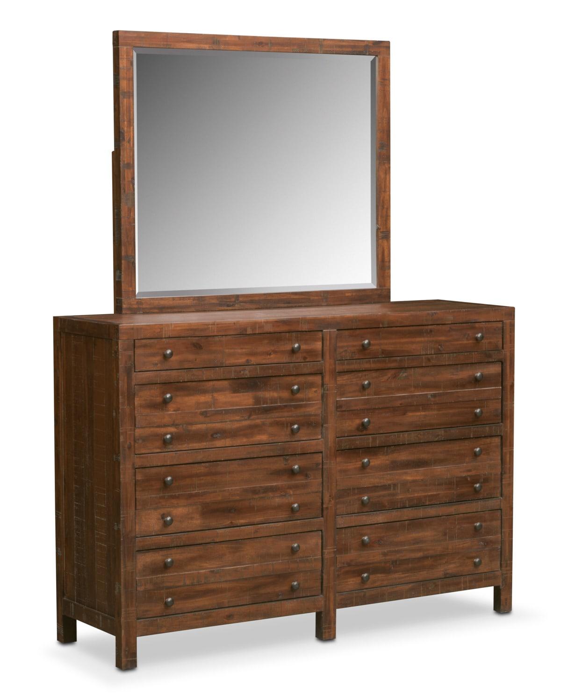 Ryder 6 Piece Queen Storage Bedroom Set Mahogany Value City Furniture