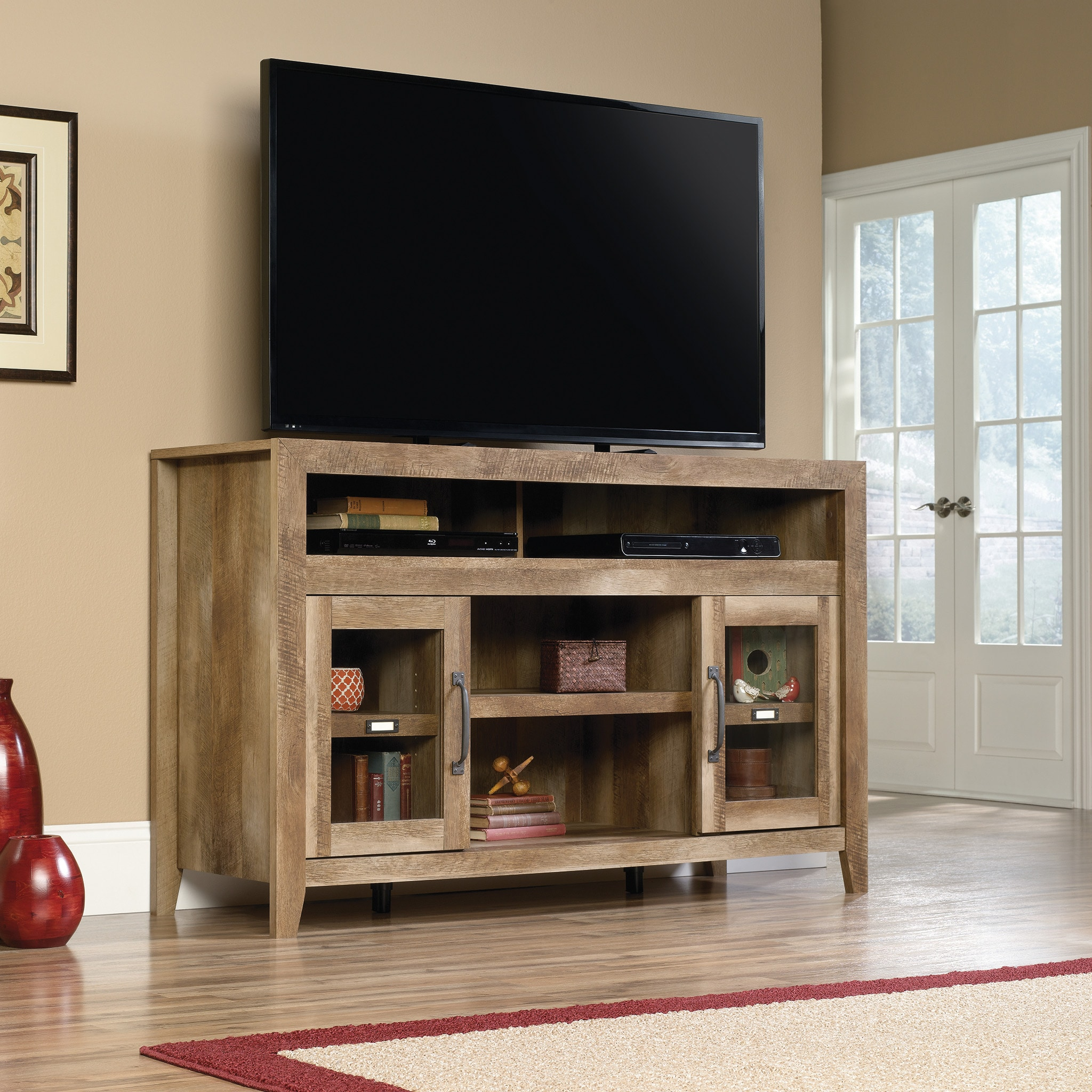 Dakota Pass Entertainment Credenza - Craftsman Oak