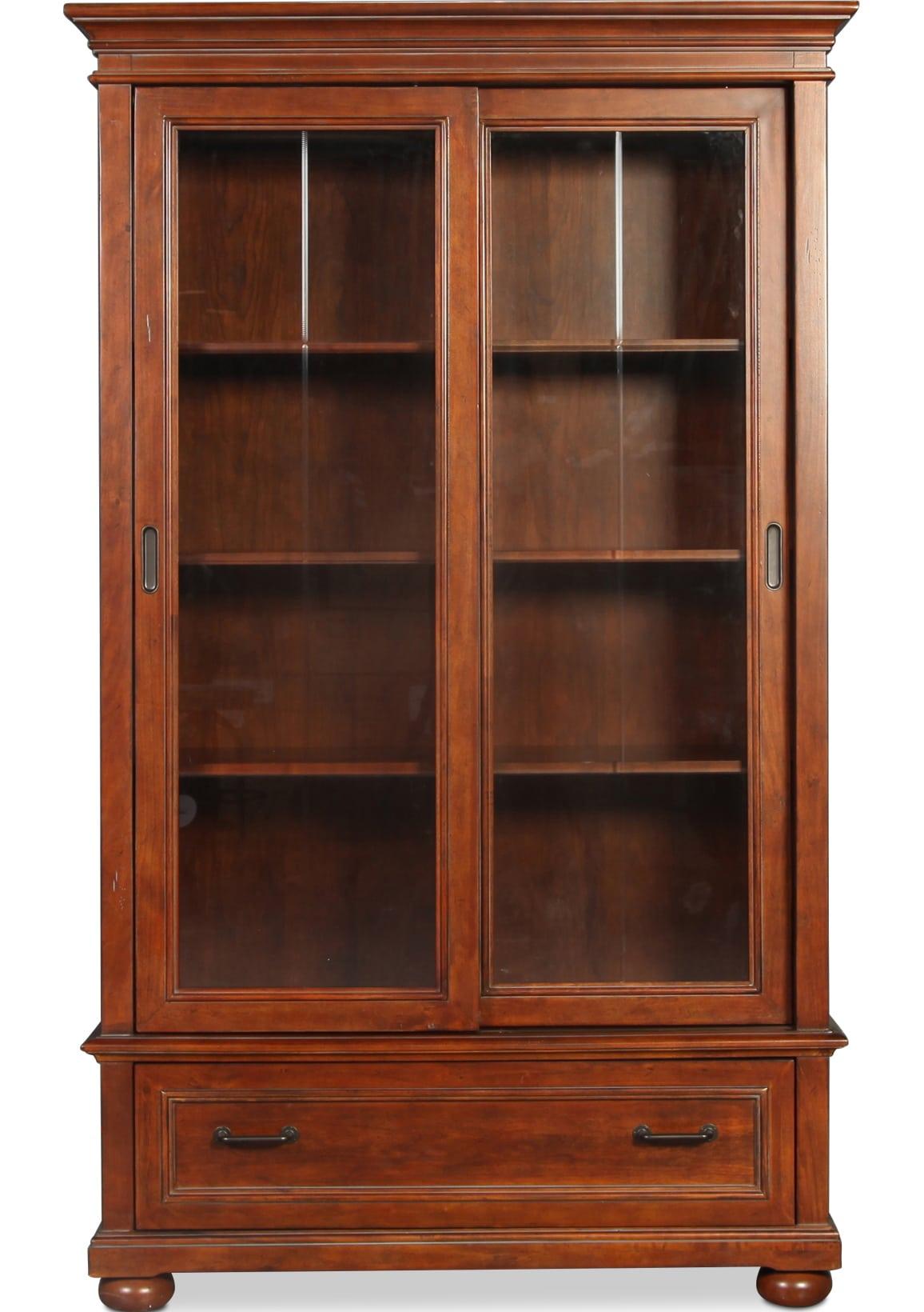 Ares Sliding Door Bookcase - Chestnut