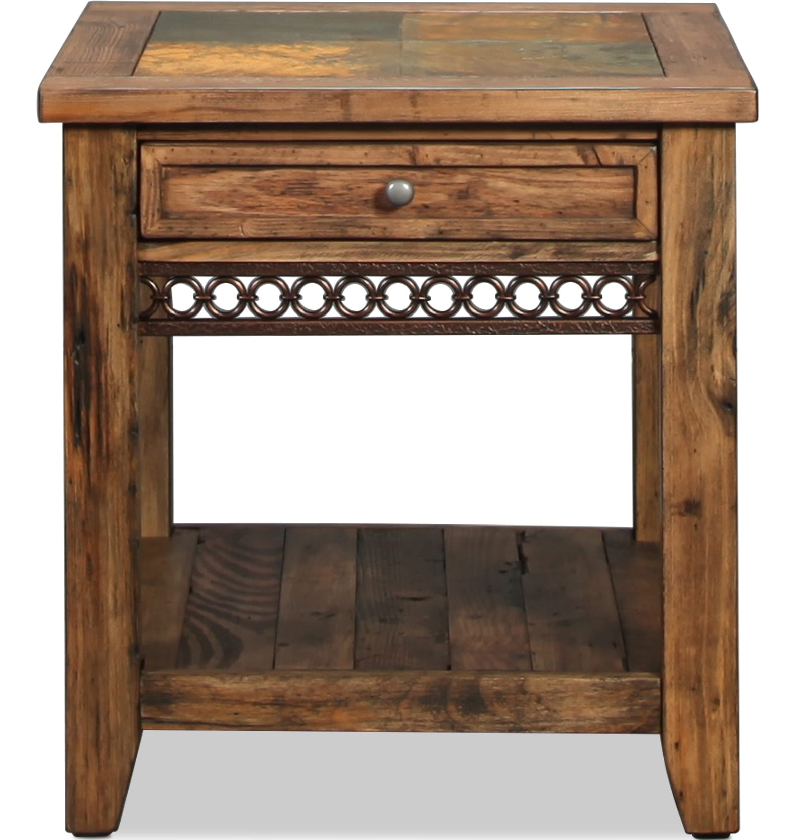 Pierson End Table - Weathered Pine