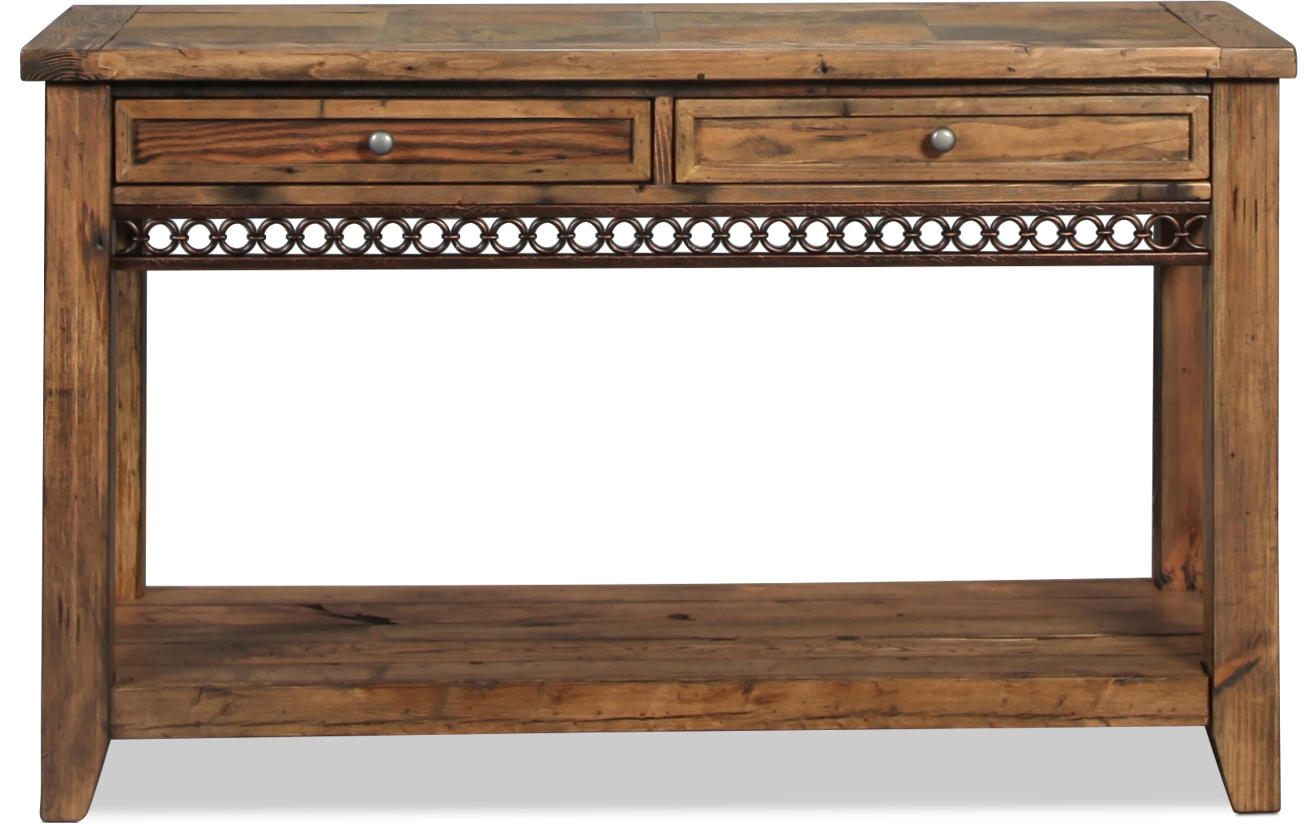 Pierson Sofa Table - Slate and Weathered Pine