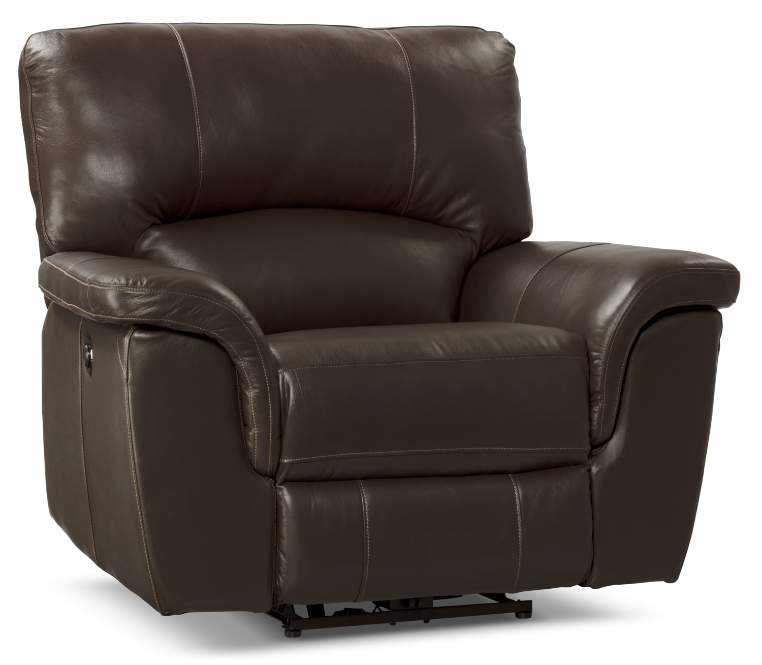 Kendal Genuine Leather Power Reclining Chair – Brown
