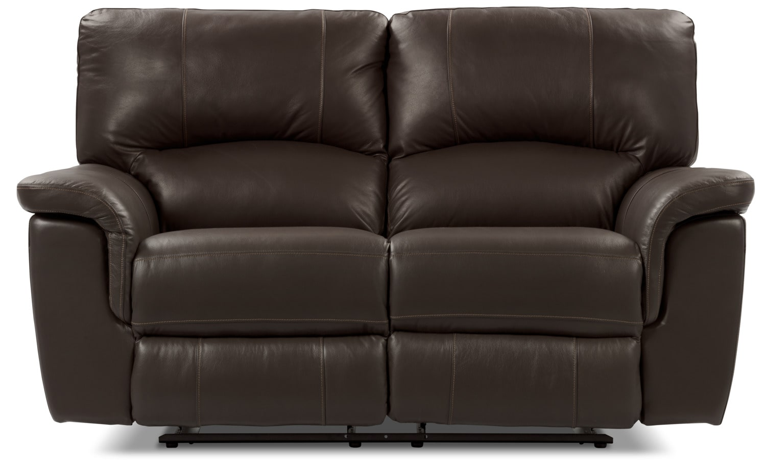 Kendal Genuine Leather Power Reclining Loveseat – Brown