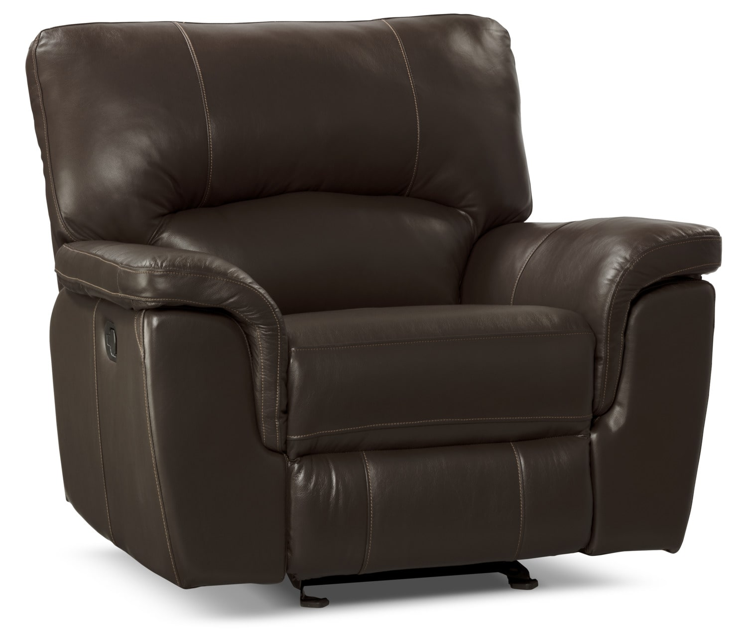 Kendal Genuine Leather Reclining Chair – Brown