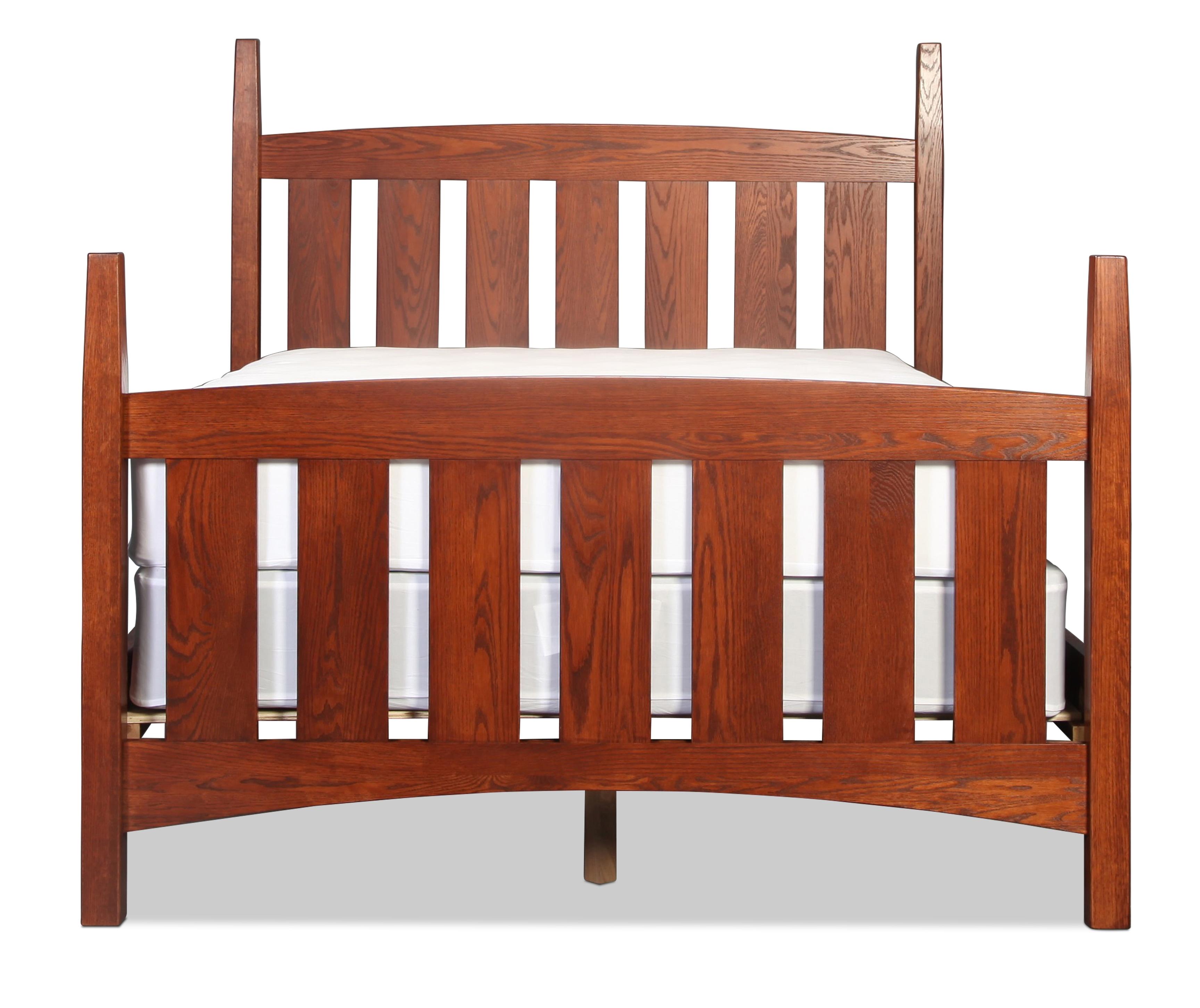 Berkshire Queen Bed - Mission Oak