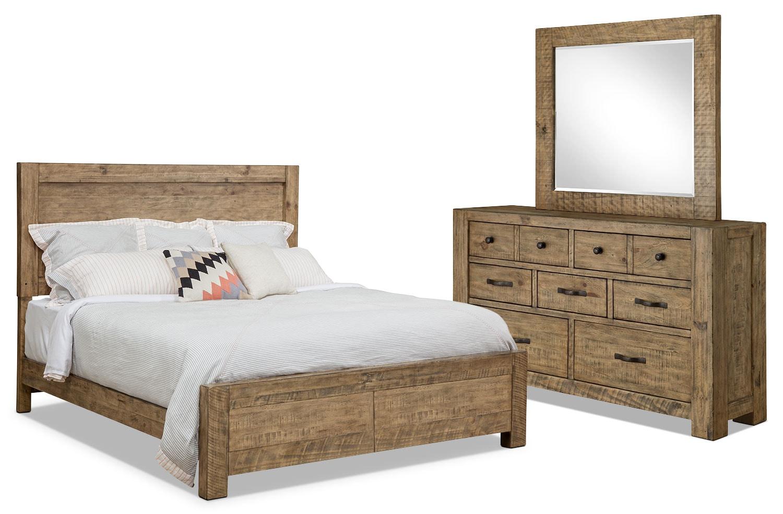 Ensemble de chambre à coucher Griffith 5 pièces avec grand lit de rangement