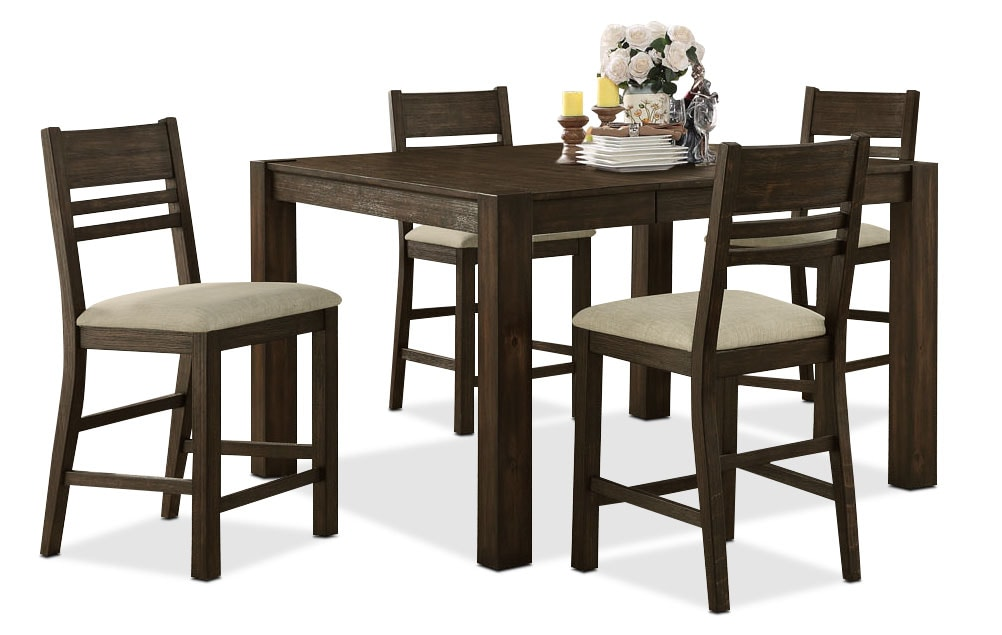 Dining Room Furniture - Jade 5-Piece Counter-Height Dining Package