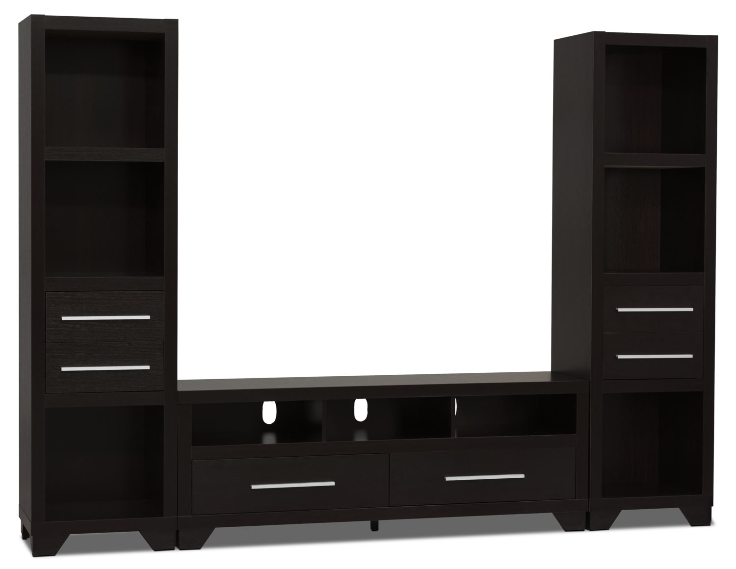 "Glendale 3-Piece Entertainment Centre with 60"" TV Opening – Espresso"