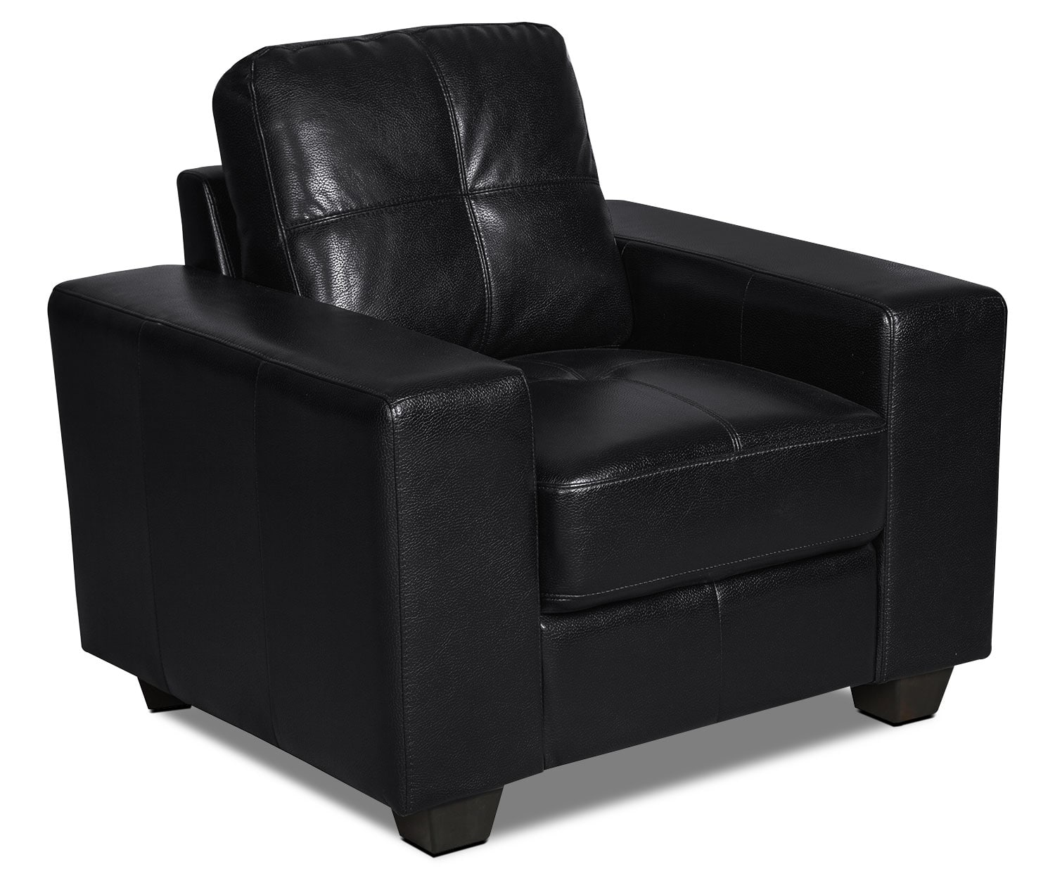 Costa Leather-Look Fabric Chair – Black