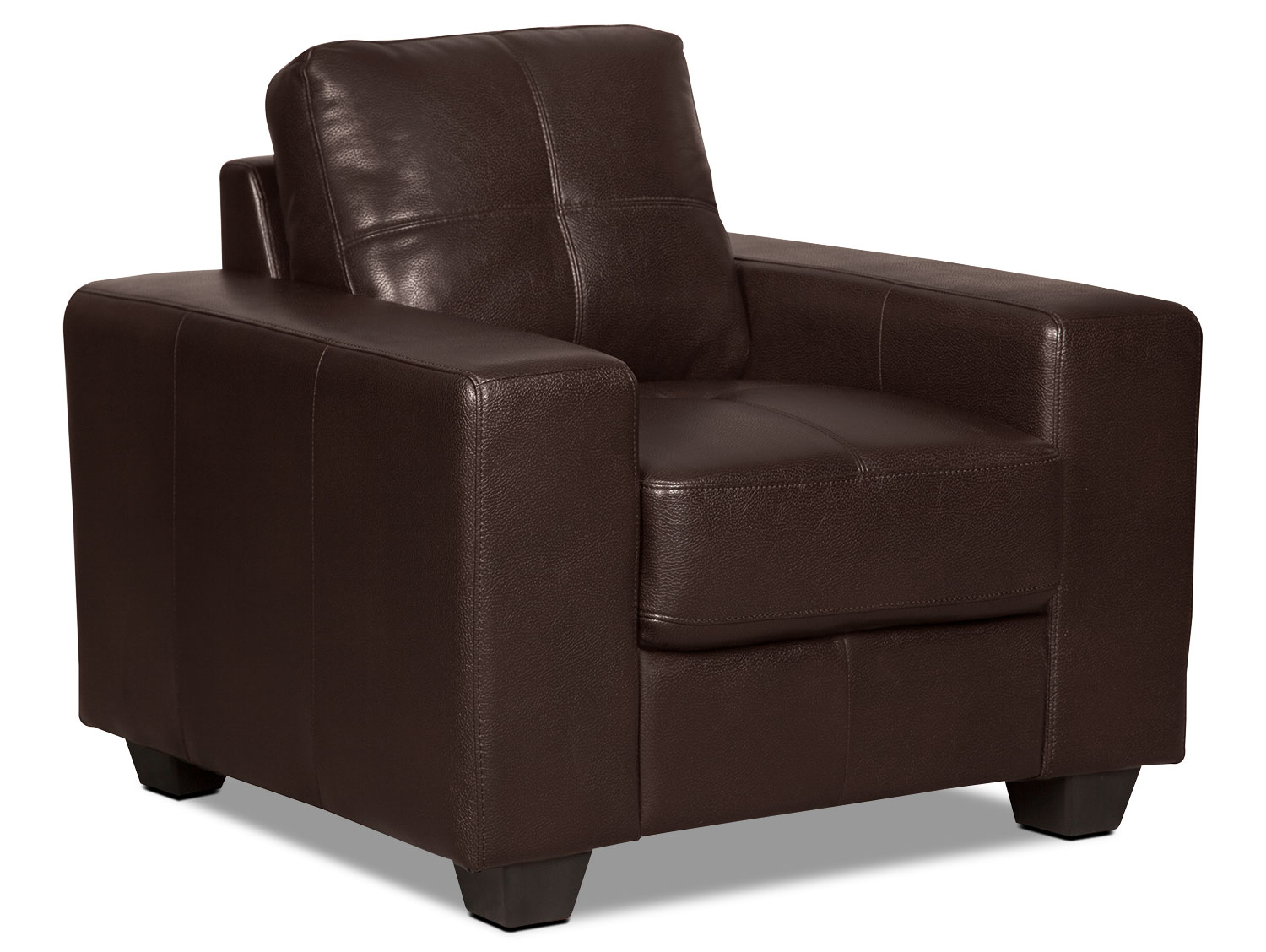 Costa Leather-Look Fabric Chair – Brown