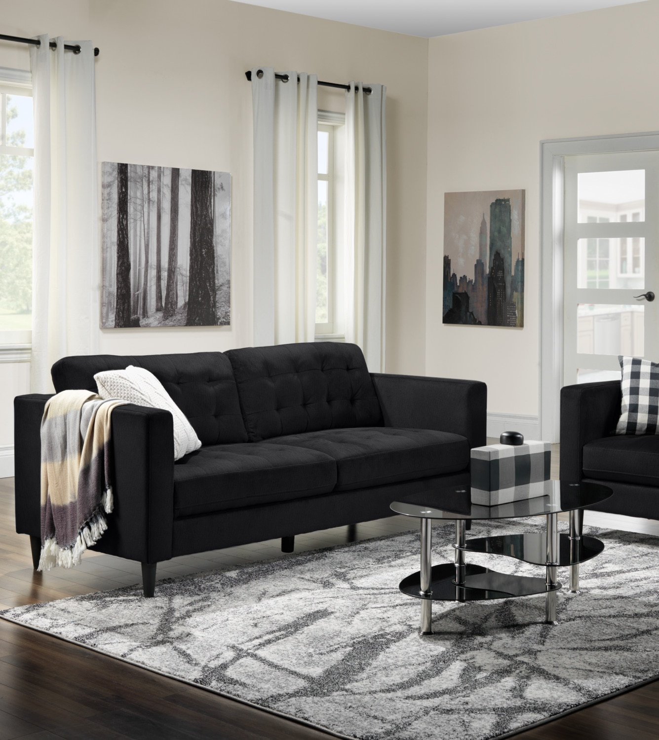 Anthena Sofa Charcoal Leon S