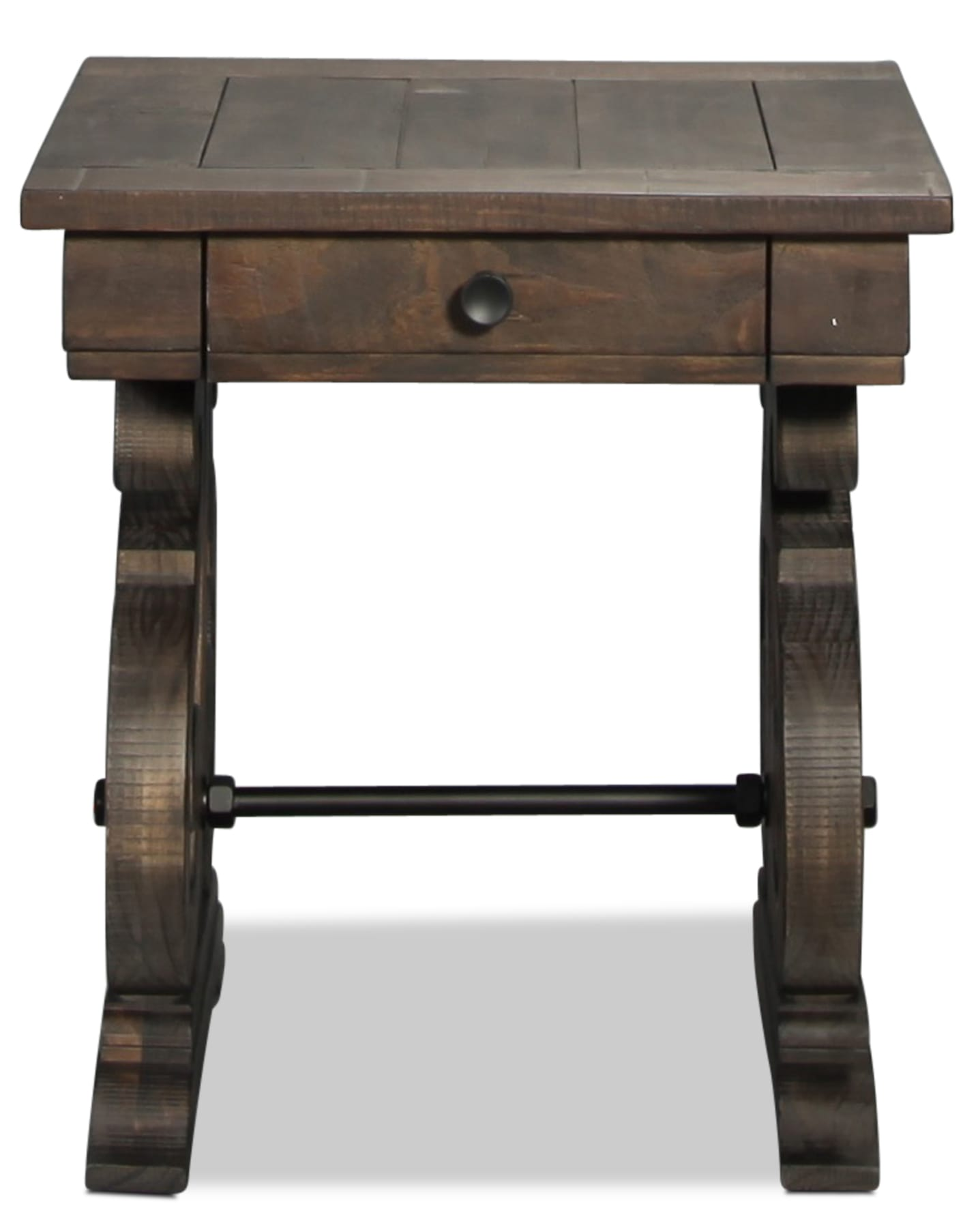 Bellamy End Table - Weathered Pine
