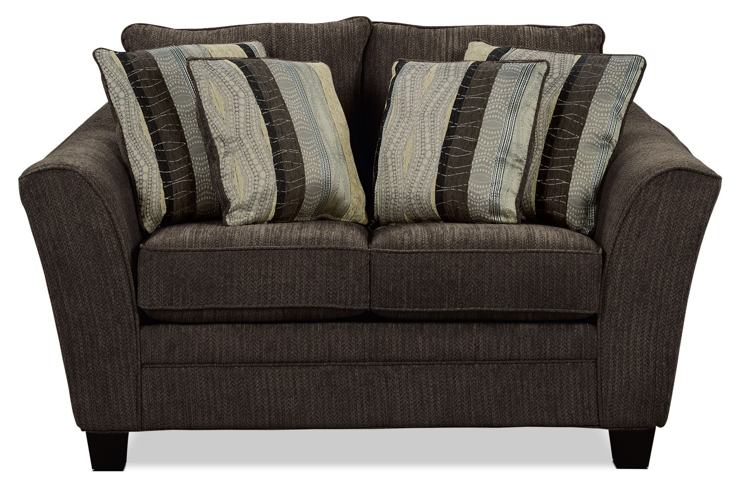 Allen Chenille Studio-Size Loveseat – Chocolate