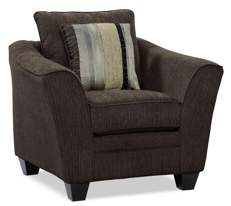 Allen Chenille Studio-Size Chair – Chocolate
