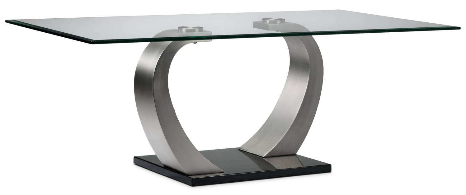 Cassatt coffee table chrome and black leon 39 s Black and chrome coffee table
