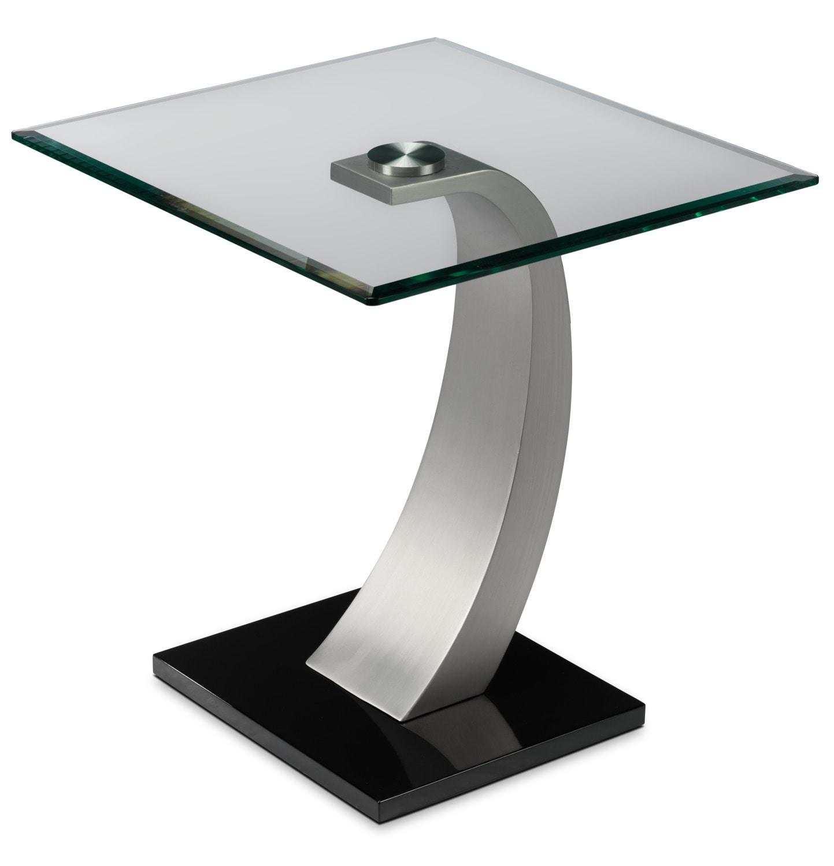 Cassatt End Table - Chrome and Black
