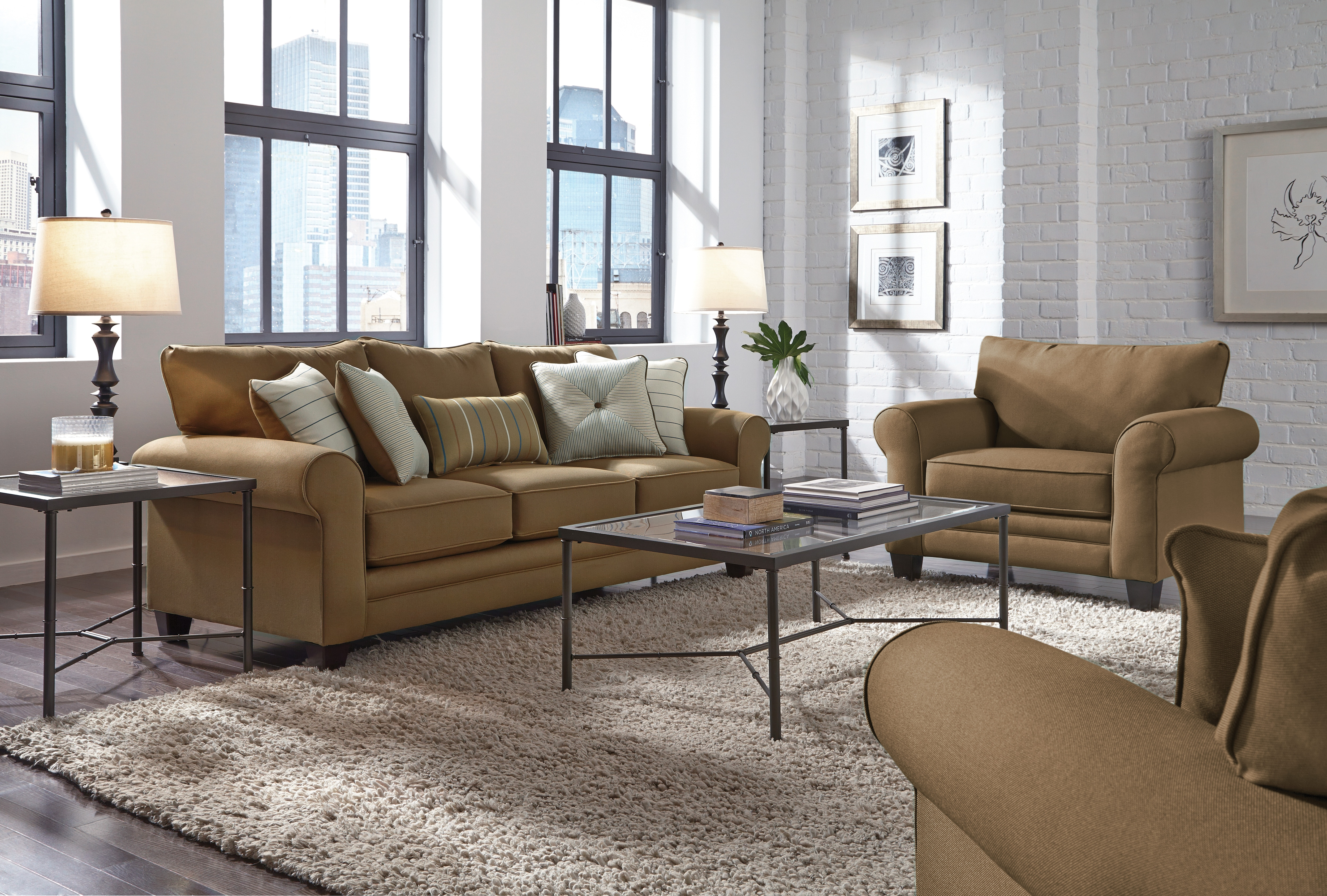Living Room Furniture - Aspire Sofa - Copper