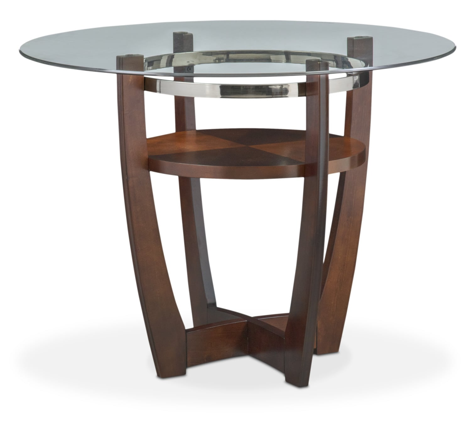 Alcove counter height table merlot value city furniture for Dining room tables measurements