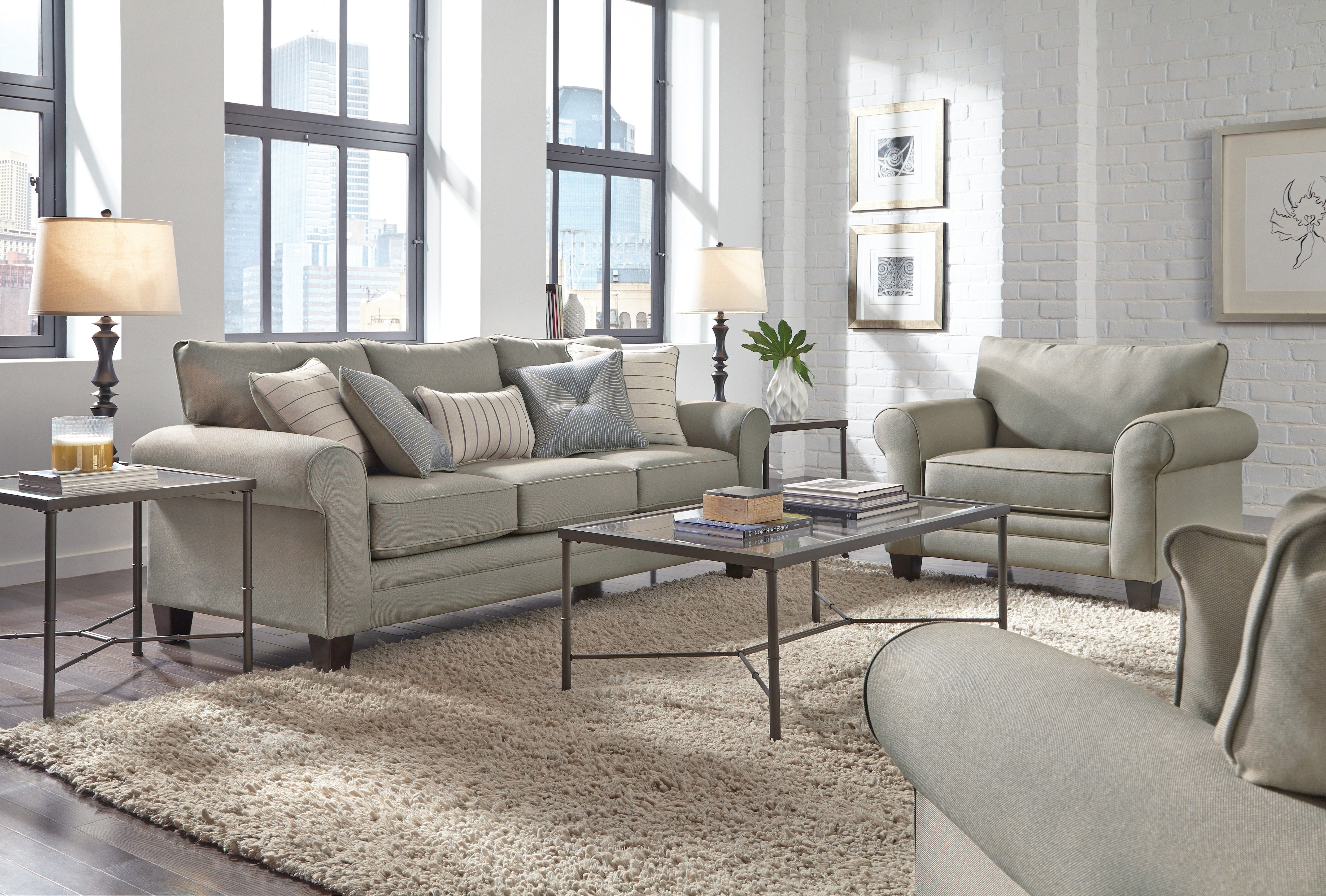 Living Room Furniture - Aspire Ottoman - Gray