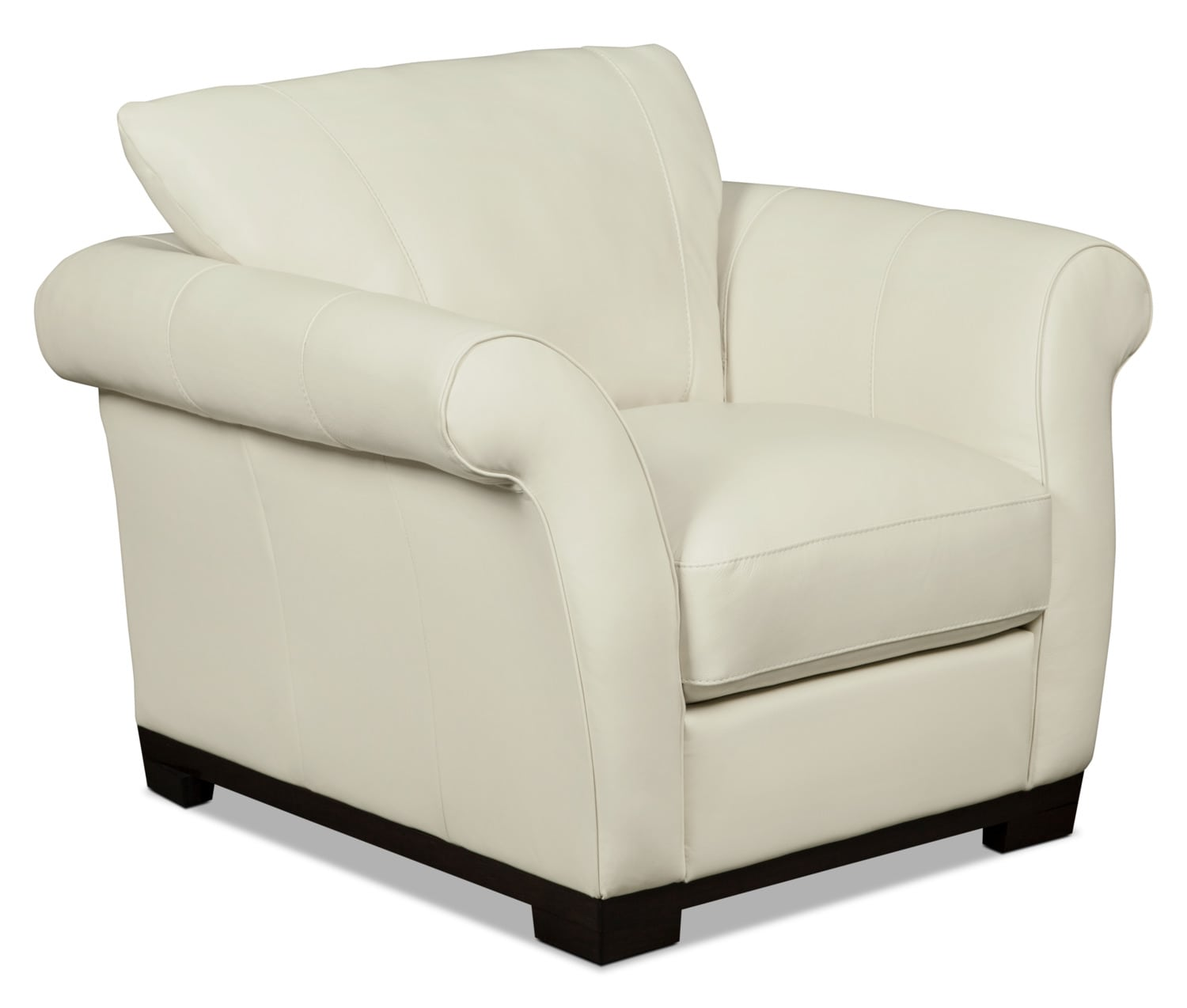Layla Genuine Leather Chair – Ivory