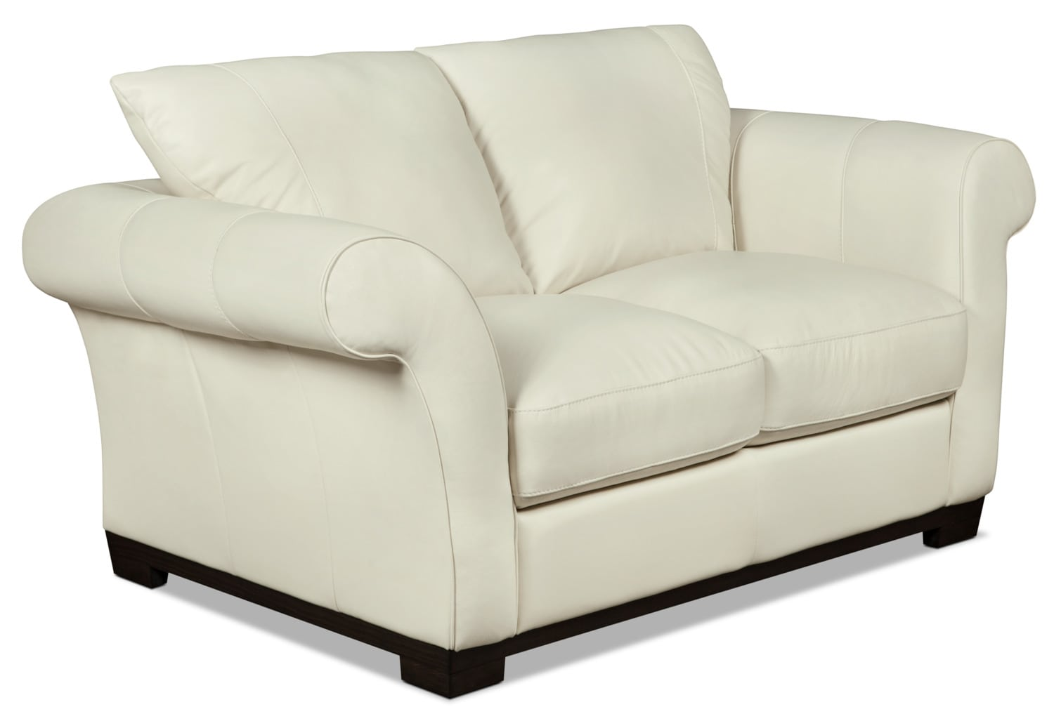 Layla Genuine Leather Loveseat Ivory United Furniture Warehouse